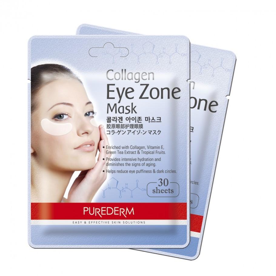 Коллагеновая маска для глаз | PUREDERM Collagen Eye Zone Mask (В упаковке 30 шт. )