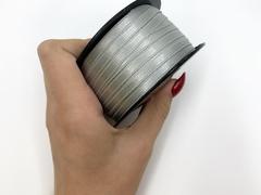 Атласная лента 6 мм, светло-серая