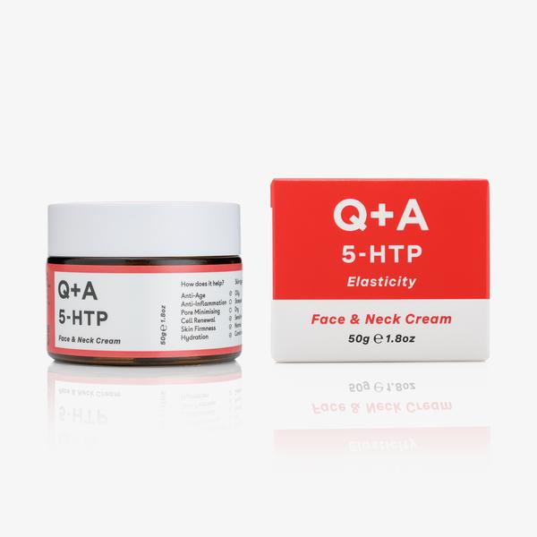 Крем для лица и шеи Q+A 5-HTP Elasticity Face&Neck Cream 50 г.