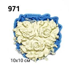 0971 Молд силиконовый. Букет роз.