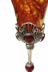 Бокал янтарный  Императорский ажурный, бронза, фото 2