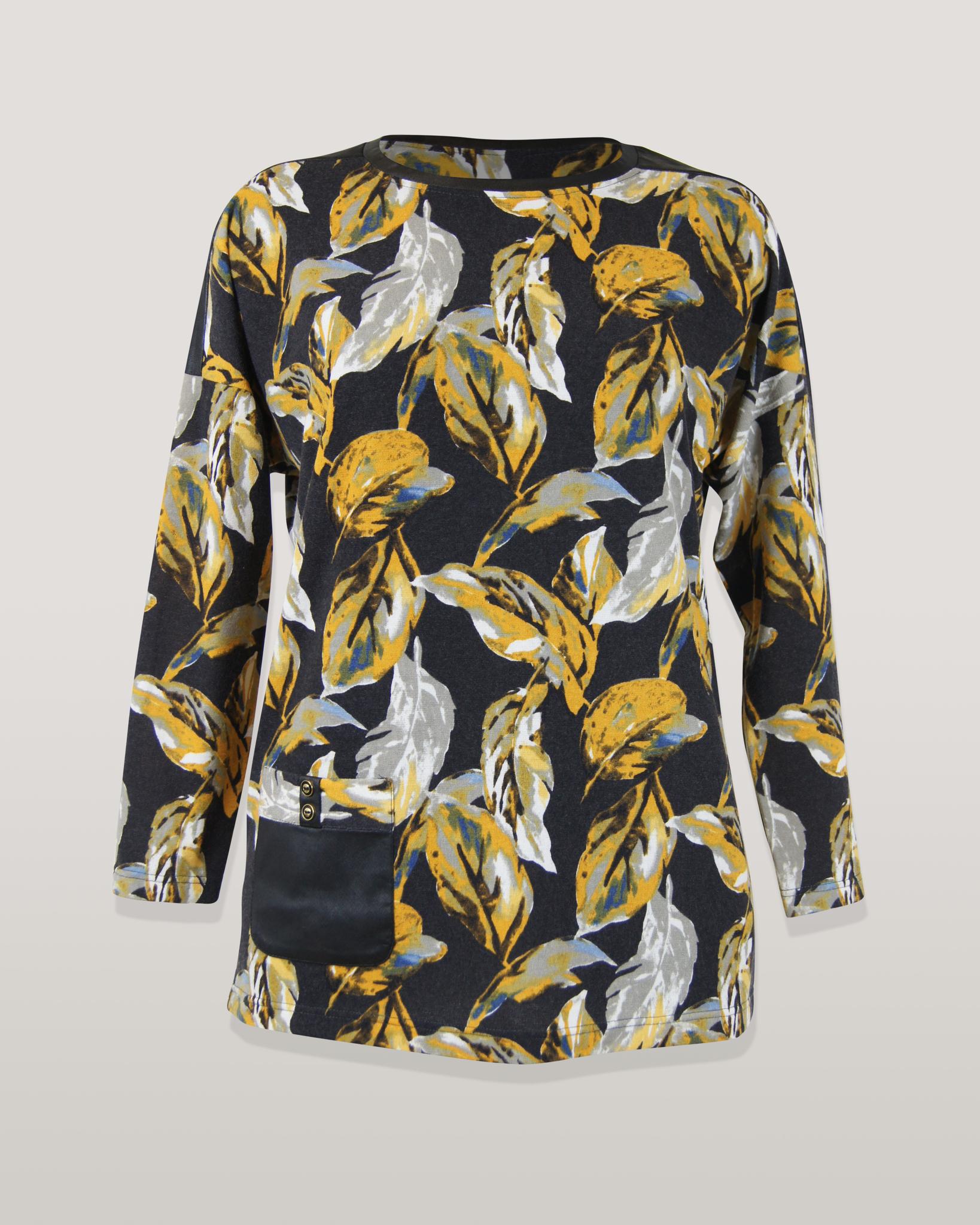 Блузка Gracjia карман листья