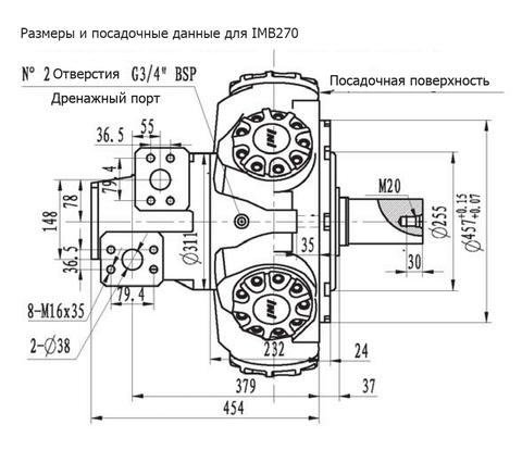 Гидромотор IMB 270-3600
