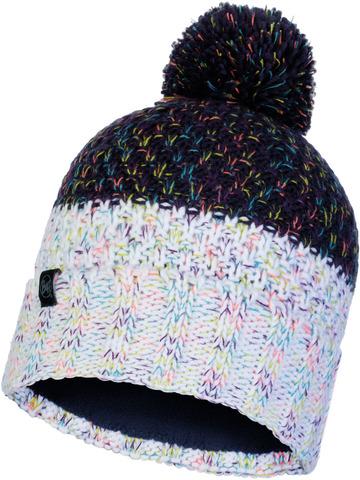 Шапка вязаная с флисом Buff Hat Knitted Polar Janna Night Blue фото 1
