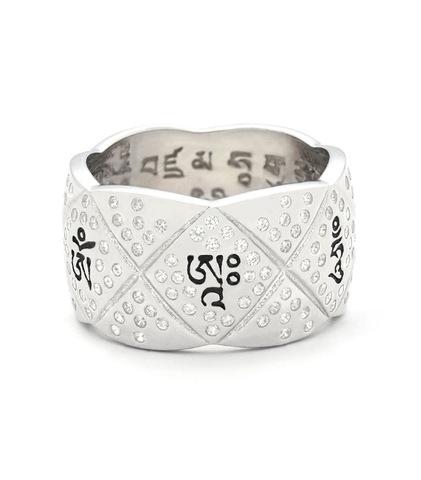 Кольцо Гесар белое золото