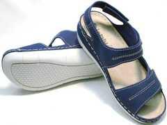 Мягкие сандалии на толстой подошве женские Inblu CB-1U Blue.