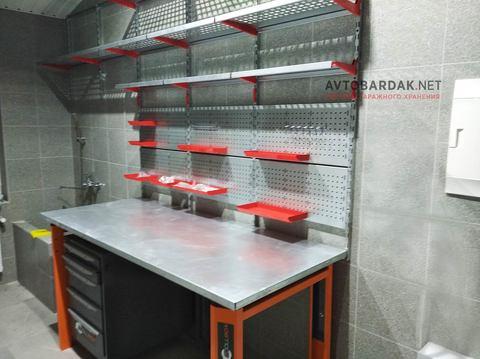 Проект № 12: кладовка 7,2 кв.м с верстаком и рабочей зоной