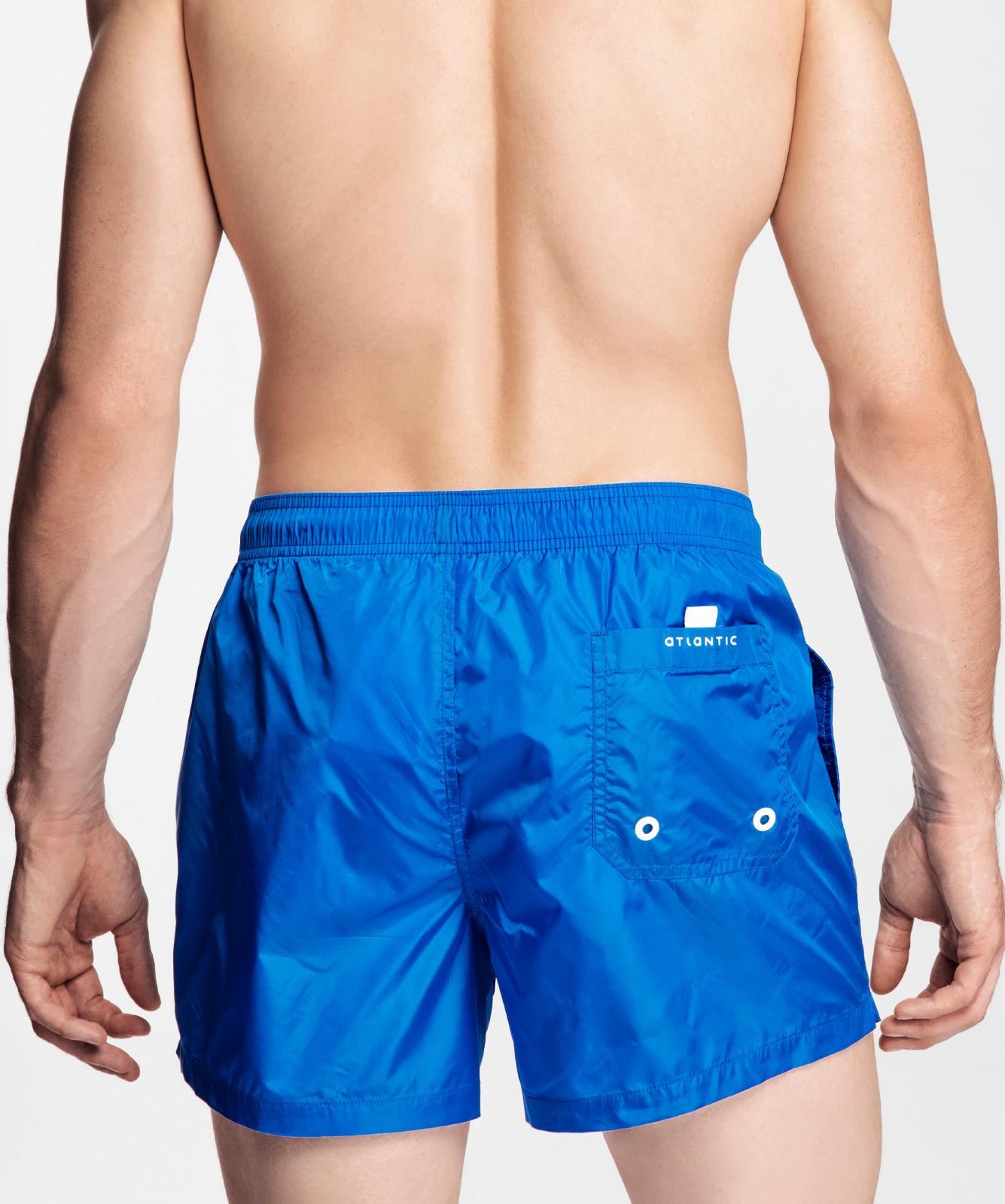 Пляжные шорты мужские Atlantic, 1 шт. в уп., полиэстер, голубые, KMB-188