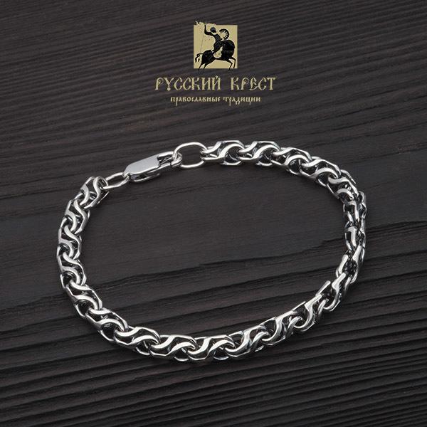 Жесткий браслет из серебра