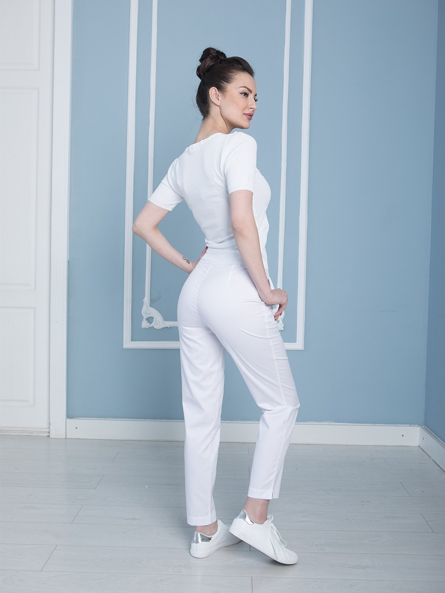 Белые медицинские брюки