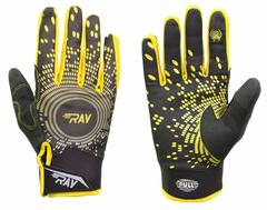 Лыжные перчатки Ray Race черный-жёлтый