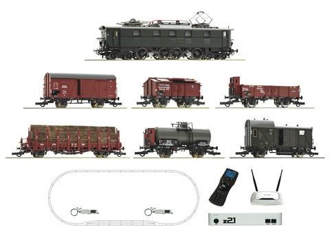 Цифровой набор z21: Электровоз E 52 со звуком + 6 грузовых вагонов, DRG, Ep.II