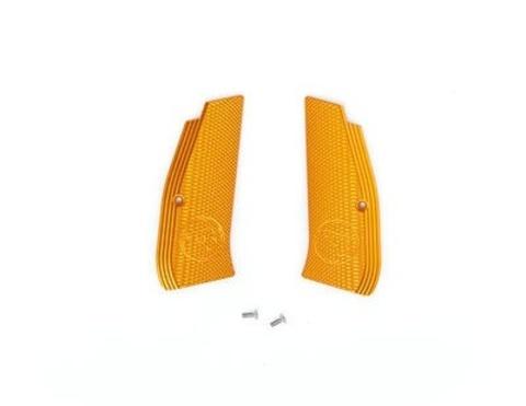 Накладки на рукоятку с лого CZ для CZ SP-01 SHADOW желтые (артикул 18515)