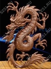 Силиконовый молд № 0282 Китайский дракон -левый