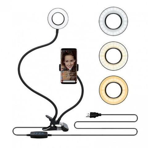 Селфи держатель кольцо с подсветкой для смартфонов