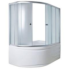 Шторка для ванны 1Marka DIANA 170х105х140 MS каркас хром, стекло Мислайт
