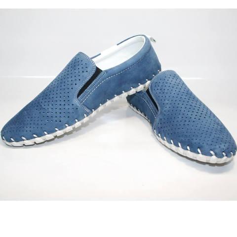 Мужские мокасины smart casual. Летние туфли с перфорацией Alvito