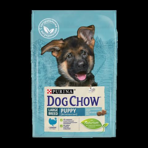 Dog Chow Puppy Large Сухой корм для щенков крупных пород с Индейкой