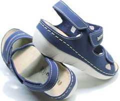 Трекинговые сандалии на танкетке женские Inblu CB-1U Blue.