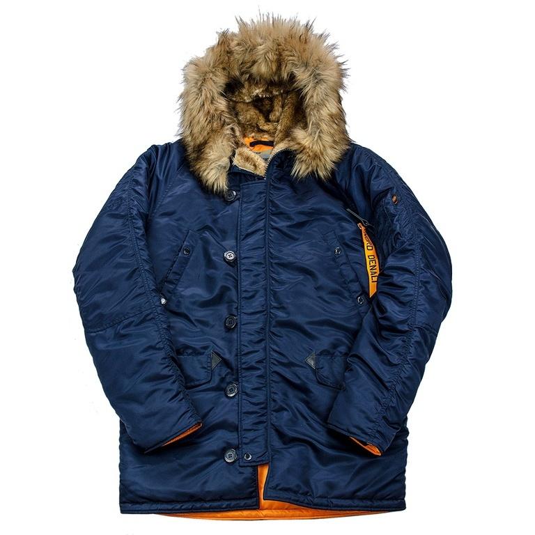 Куртка Аляска  N-3B  Husky Denali 2017 (синяя - r.blue/orange)