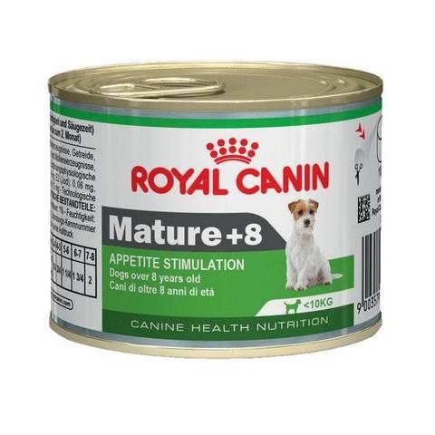 ROYAL CANIN Консервы для пожилых собак для поддержания жизненных сил Mature +8