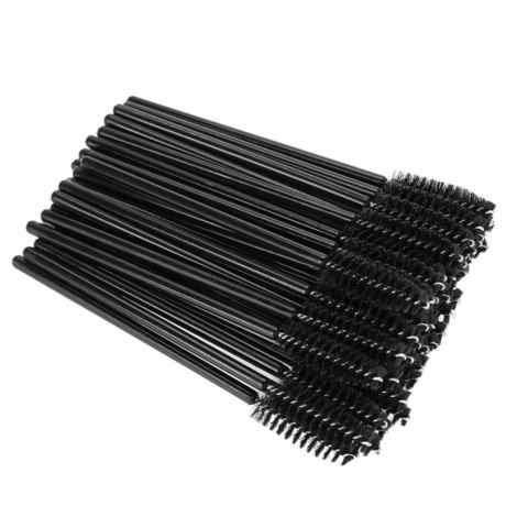 Щеточки для ресниц и бровей одноразовые черные, 50 шт