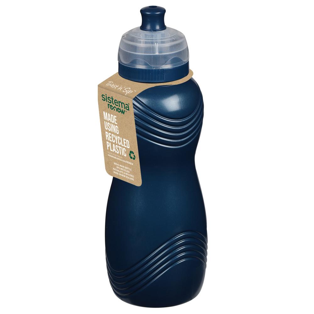 """Бутылка для воды Sistema """"Renew"""" 600мл, цвет Синий"""
