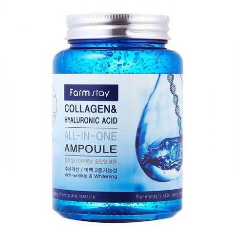 Сыворотка с коллагеном и гиалуроновой кислотой FarmStay Collagen & Hyaluronic Acid 250 мл.