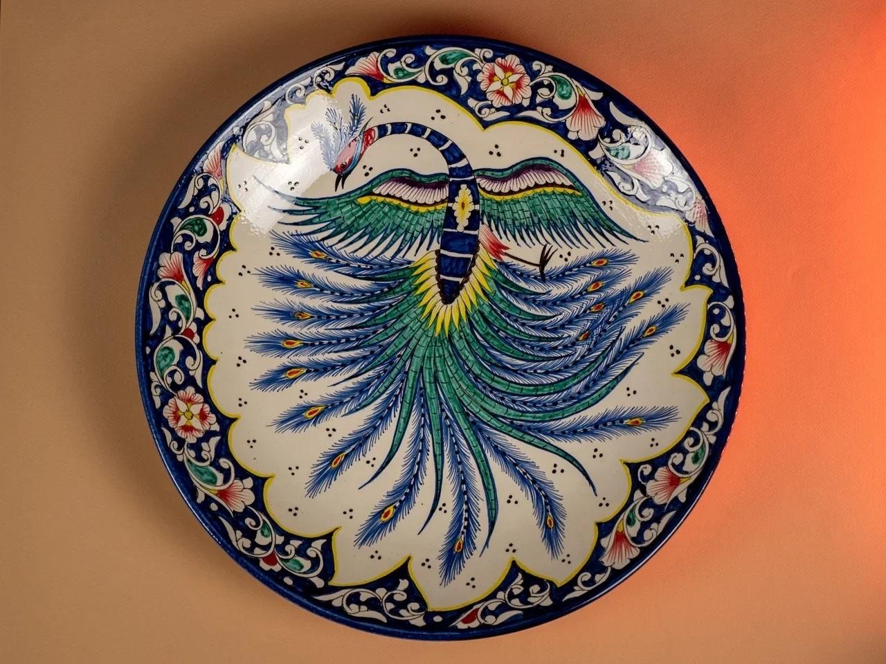 Посуда Ляган ручная роспись павлин 42 см PlZHuF9Ev2M.jpg