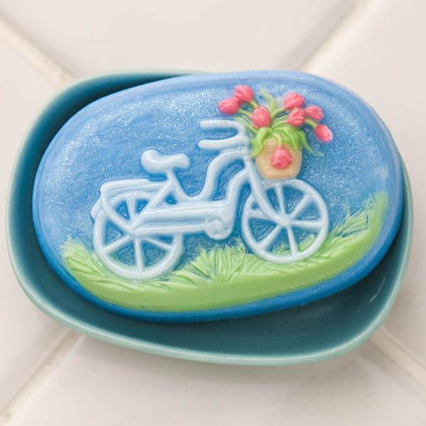 Пластиковая форма для мыла Велосипед