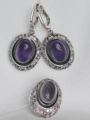 Авалон (кольцо + серьги из серебра)
