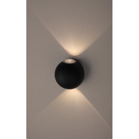 Декоративная светодиодная подсветка ЭРА WL11 BK 2*1Вт IP54 черный