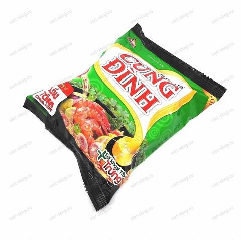 Вьетнамская пшеничная лапша CUNG DINH со вкусом креветки, 80гр.