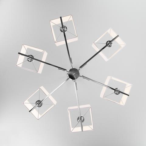 Подвесная люстра с квадратными абажурами 60115/6 хром
