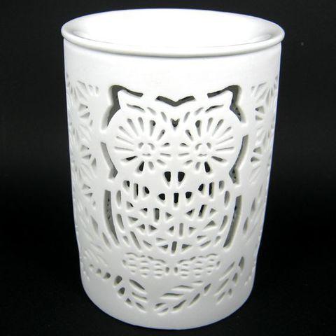 Аромалампа Сова керамика, 12 см