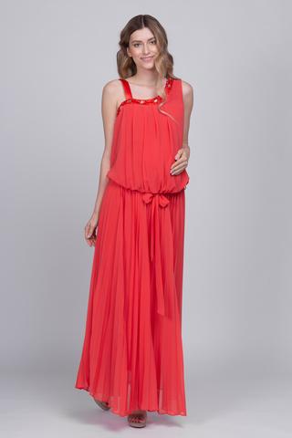 Платье для беременных 03722 красный