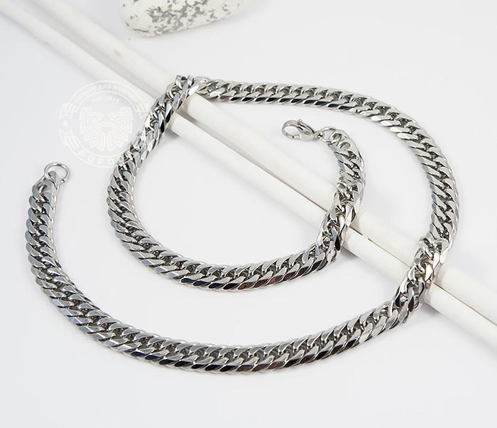 PM241 Стильная мужская цепочка из ювелирной стали (58 см)