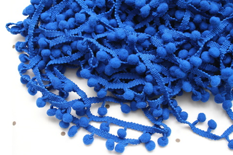 Помпоны синие