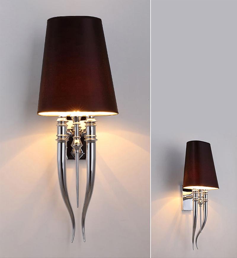 Настенный светильник копия Brunilde by Ipe Cavalli H72 (черный)