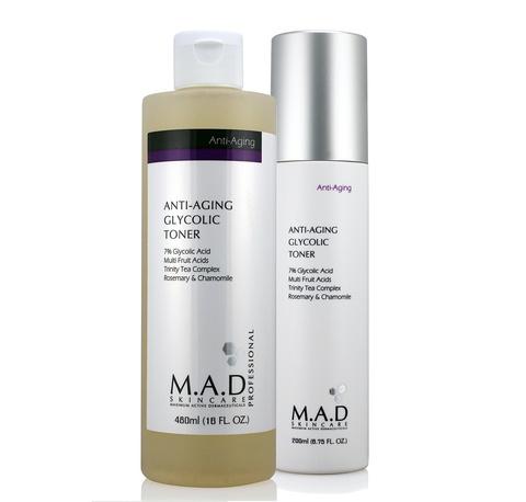 Тоник с 7% гликолевой кислотой предотвращающий старение кожи Anti Aging Glycolic Toner, 480 мл.