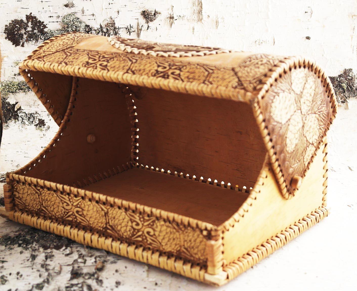 Открытая хлебница на бересте