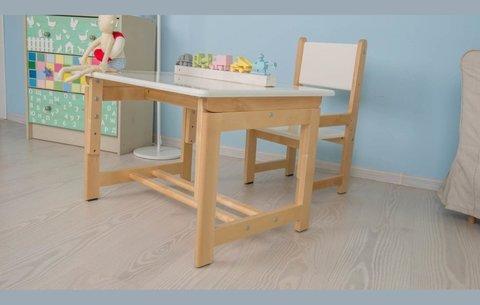 Комплект детской мебели Фея Растем вместе натуральный+белый
