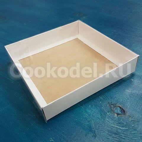 Коробка Классика двусторонняя 15,5х15,5х3 см