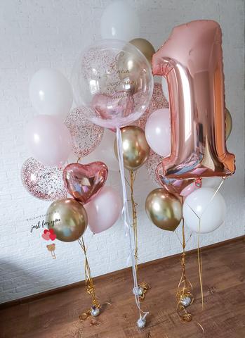 Композиция из шаров для девочки
