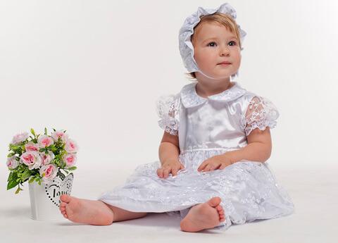 Набор крестильный Гипюр белый