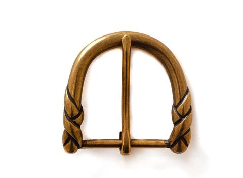 Пряжка для ремня 40 мм, состаренная латунь