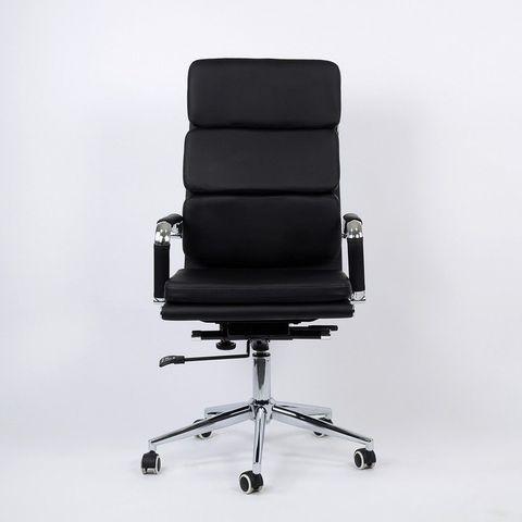 Кресло  для персонала черная кожа