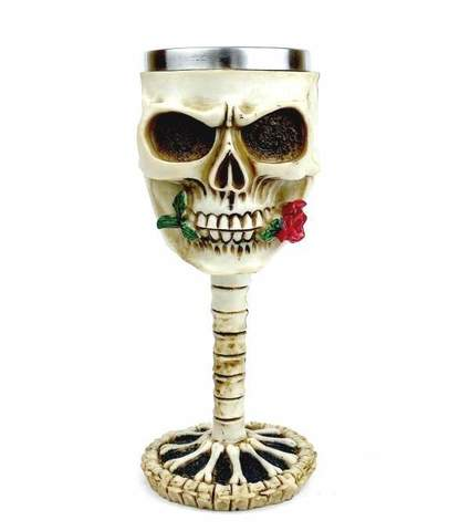Кубок «Скелет с розой», 200 мл