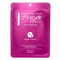 Маска для лица с плацентой и платиной Mitomo омолаживающая 25 гр