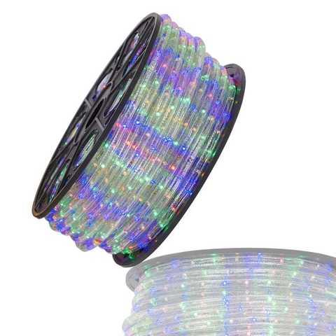 Гофрированный дюралайт 100 метров led 3-x жильный